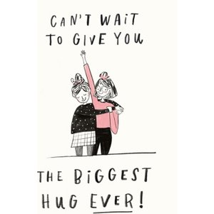 Cant Wait Biggest Hug 2 Friends Happy Birthday Card, Giant Size By Moonpig Pim007