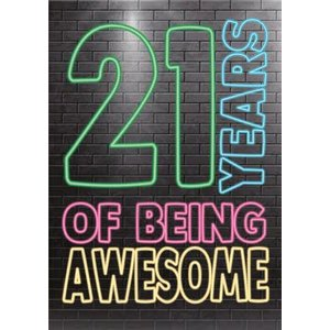 Cheeky Chops 21 Years Of Being Awesome Card, Giant Size By Moonpig Ckp064