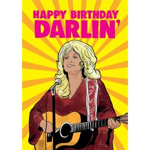 Cheeky Chops Happy Birthday Darlin Card, Giant Size By Moonpig Ckp088