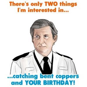 Cheeky Chops Theres Only Two Things I'm Interested In Card, Large Size By Moonpig Ckp137 Lg
