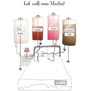Chocolate Milk Nectar Merlot Personalised Get Well Soon Card, Giant Size By Moonpig Hp237
