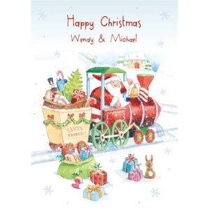 Christmas Card - Santa Express, Giant Size By Moonpig Ld484