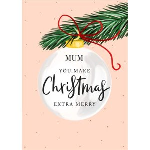 Christmas Wishes You Make Extra Special Personalised Card, Large Size By Moonpig Chw005 Lg