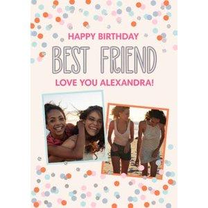 Confetti Cannon Photo Uplaod Best Friend Birthday Card, Standard Size By Moonpig Cfn002 St