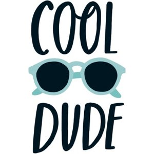 Cool Dude Sunglasses Typographic Card, Large Size By Moonpig Sdj099 Lg