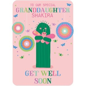 Cute And Colourful Granddaughter Get Well Soon Card, Standard Size By Moonpig Hoha012 St
