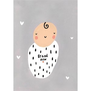 Cute Illustrated Brand New Baby Card, Large Size By Moonpig Sos092 Lg