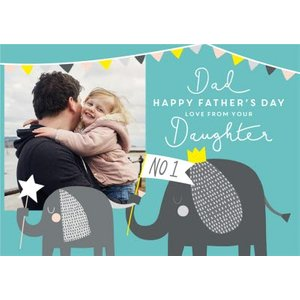 Cute Jungle Daughter Father's Day Photo Card, Large Size By Moonpig Fnm005 Lg