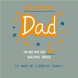Dad - You Are Very Very Awesome Indeed Birthday Card, Square Card Size By Moonpig Epi001 Sq Sq