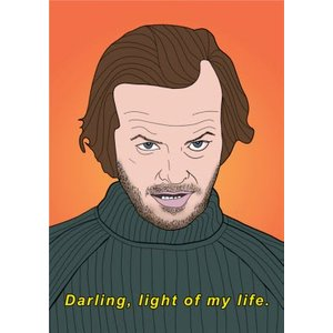 Darling Light Of My Life Funny Spoof Card, Standard Size By Moonpig Bnv005 St