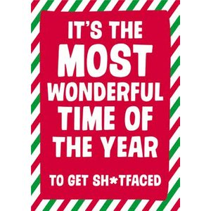 Moonpig Dean Morris Its The Most Wonderful Time Of Year Drinking Christmas Card, Giant Size By Moo Dnm069