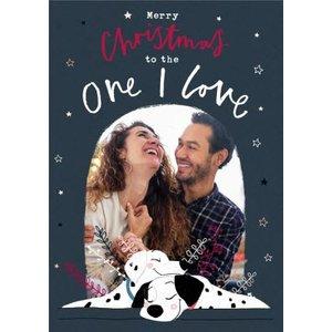 Disney 101 Dalmatians One I Love Photo Upload Christmas Card, Giant Size By Moonpig Dalm029