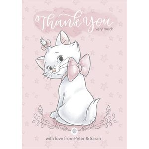 Disney Baby Personalised Marie Thank You Card, Large Size By Moonpig Dib052 Lg