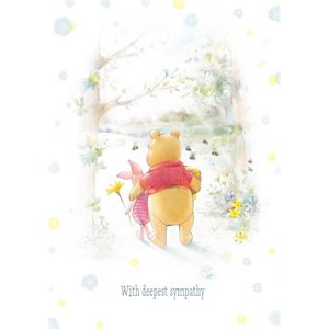 Moonpig Disney Winnie The Pooh And Piglet Personalised With Deepest Sympathy Card, Giant Size By M Wp442