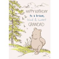 Disney Winnie The Pooh Grandad Birthday Card, Large Size By Moonpig Wp698 Lg