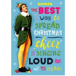 Elf - Chistmas Card, Giant Size By Moonpig Elf001