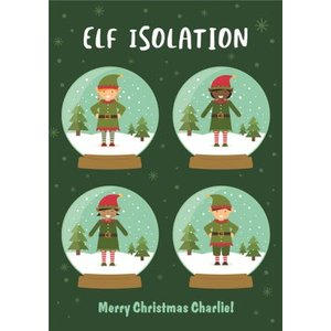 Elf Isolation Christmas Funny Card, Giant Size By Moonpig Bant055