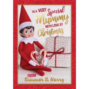 Elf On The Shelf To A Very Special Mummy Christmas Card, Giant Size By Moonpig Eos005