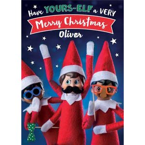 Elf On The Shelf Your-elf A Merry Christmas Card, Giant Size By Moonpig Eos001