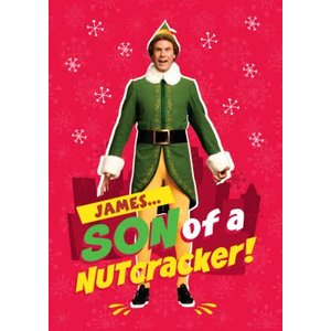 Elf Son Of A Nutcracker Christmas Card, Giant Size By Moonpig Elf004