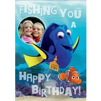 Finding Dory Photo Birthday Card, Large Size By Moonpig Dor005 Lg