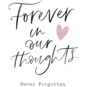 Forever In Our Thoughts Sympathy Card, Giant Size By Moonpig All017