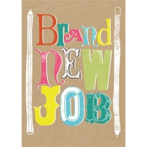 Funky Lettering And Pencils Personalised Brand New Job Card, Standard Size By Moonpig Imp018 St