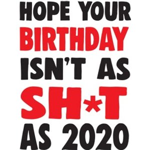 Funny Cheeky Chops 2020 Birthday Card, Large Size By Moonpig Ckp045 Lg