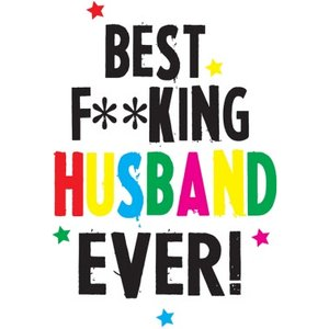 Funny Cheeky Chops Best Husband Ever Card, Large Size By Moonpig Ckp019 Lg
