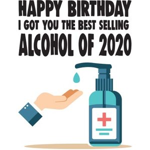 Funny Cheeky Chops Best Selling Alcohol Of 2020 Birthday Card, Large Size By Moonpig Ckp047 Lg