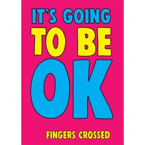 Funny Cheeky Chops Its Going To Be Ok Card, Standard Size By Moonpig Ckp007 St