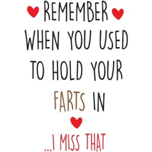 Moonpig Funny Cheeky Chops Remember When You Used To Hold Your Farts In Card, Standard Size By Moo Ckp016 St