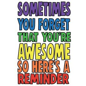 Funny Cheeky Chops Sometimes You Forget That Youre Awesome Card, Giant Size By Moonpig Ckp023