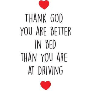 Funny Cheeky Chops Thank God You Are Better In Bed Card, Large Size By Moonpig Ckp013 Lg