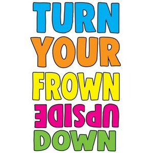 Funny Cheeky Chops Turn Your Frown Upside Down Card, Large Size By Moonpig Ckp001 Lg