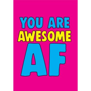 Funny Cheeky Chops You Are Awesome Af Card, Standard Size By Moonpig Ckp005 St
