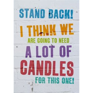 Funny Cheeky Old A Lot Of Candles Birthday Card, Large Size By Moonpig Bbx058 Lg