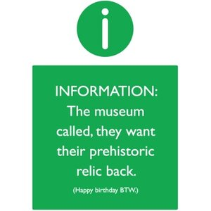 Funny Cheeky Old Dinosaur Museum Prehistoric Relic Birthday Card, Standard Size By Moonpig Bbx067 St
