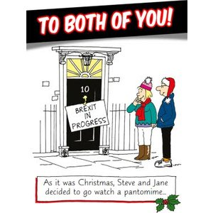 Funny Christmas Card To The Both Of You! Pantomime, Giant Size By Moonpig Nv001