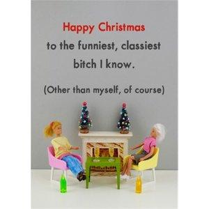 Funny Dolls Rude Funniest Classiest Christmas Card, Standard Size By Moonpig Bol011 St