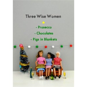 Funny Dolls Three Wise Women Christmas Card, Giant Size By Moonpig Bol038