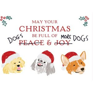 Moonpig Funny Humour Comedy Christmas Card May Your Be Filled With Dogs And More Dogs, Standard Si Skc074 St