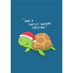 Funny Pun Have A Turtley Awesome Christmas Card, Giant Size By Moonpig Chcl154