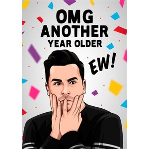 Funny Spoof Tv Omg Another Year Older Ew Birthday Card, Large Size By Moonpig Albi130 Lg