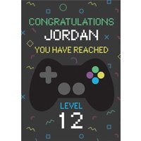 Gaming Congratulations You Have Reached Level Birthday Card, Standard Size By Moonpig Bgbm018 St