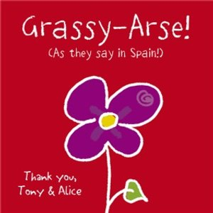 Grassy-arse Personalised Thank You Card, Large Square Card Size By Moonpig Ddd106 Lg