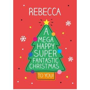 Happy Jackson Mega Super Christmas Card, Large Size By Moonpig Hjx014 Lg