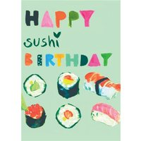 Happy Sushi Birthday Card, Giant Size By Moonpig Sos032