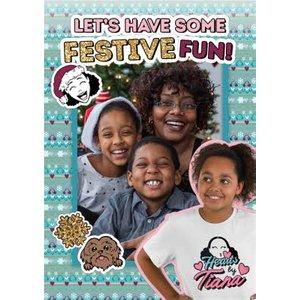 Hearts By Tiana Photo Upload Festive Fun Christmas Card, Large Size Moonpig Tia010 Lg