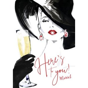 Here's To You - Classy Birthday Card Champagne, Giant Size By Moonpig Avs002